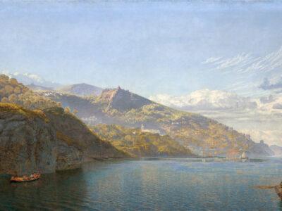 ジョン・ブルット「ナポリ湾」1864年