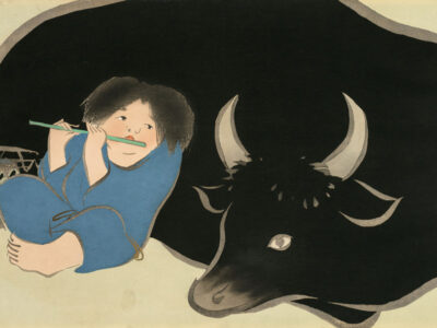 神坂雪佳「牧童」1909-1910年
