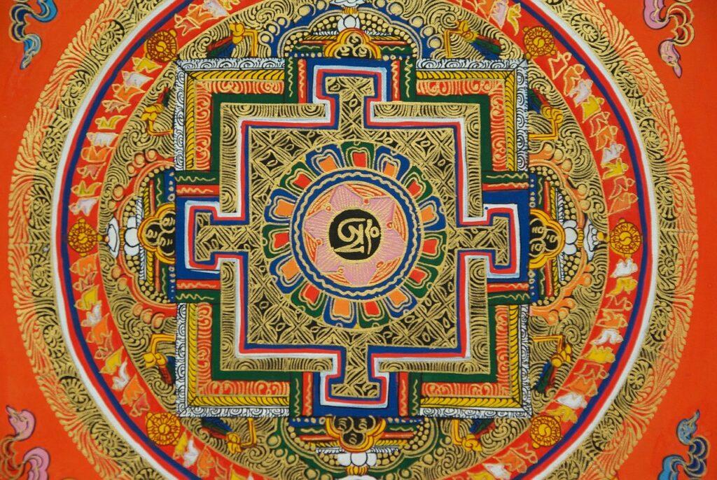 チベット密教の砂曼荼羅(マンダラ)