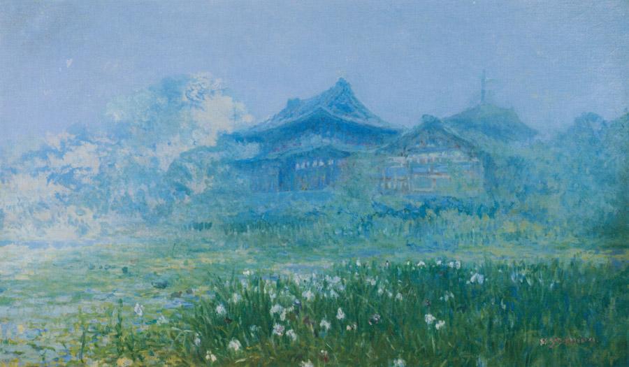 吉田博「堀切寺」1907年