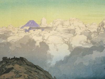 吉田博「日本南アルプス集 駒ヶ岳山頂より」1928年