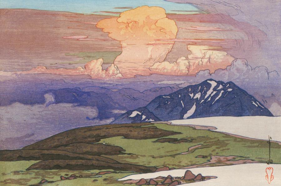 吉田博「日本アルプス十二題 五色原」1926年