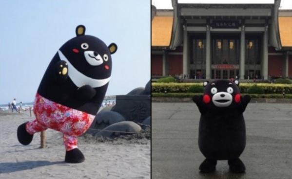 くまモンと高雄熊(台湾高雄のゆるキャラ)