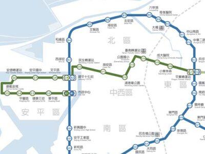台湾・台南MRTの路線図(完成予想図)