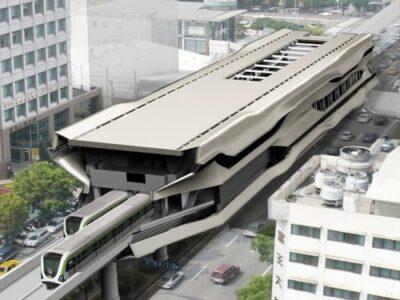 台湾・台中MRTの完成予想図