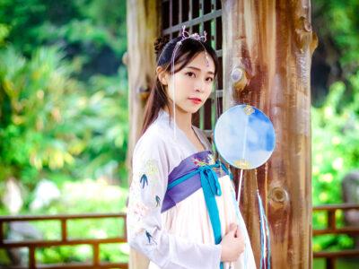漢服の台湾女性の写真