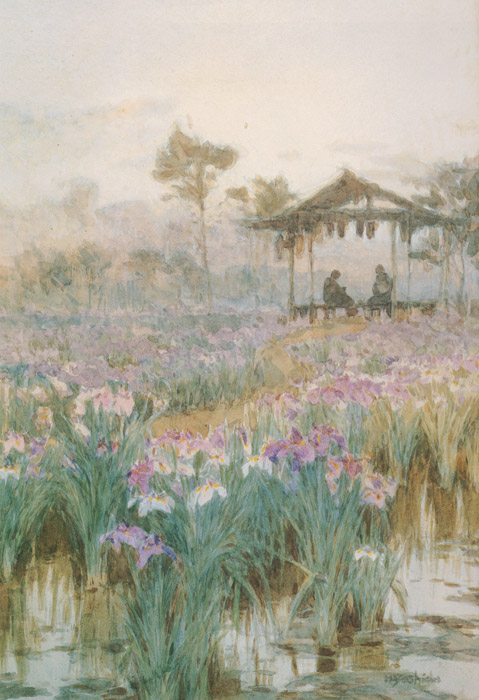 吉田博「菖蒲園」1903年